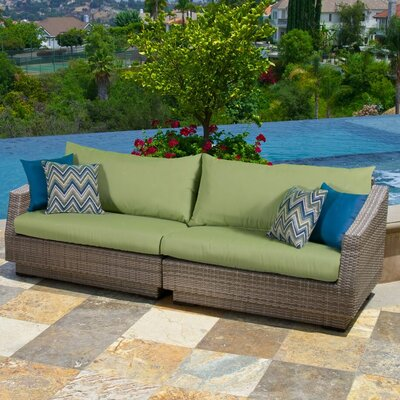 Alfonso 2 Piece Sofa with Cushions Fabric: Ginkgo Green