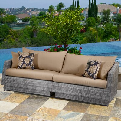 Alfonso 2 Piece Sofa with Cushions Fabric: Delano Beige
