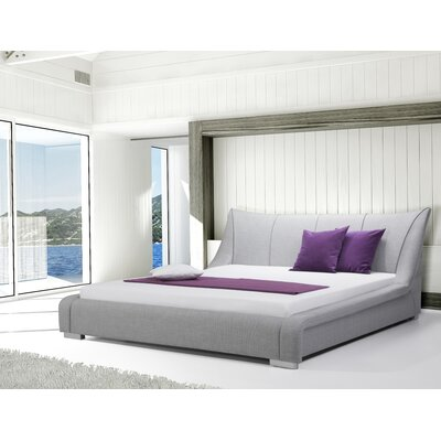 Astoria Upholstered Platform Bed Size: King, Finish: Light Gray