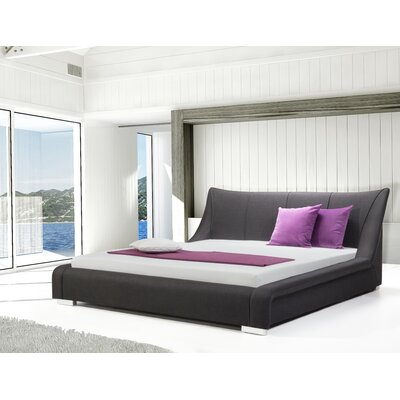 Astoria Upholstered Platform Bed Size: Queen, Finish: Anthracite