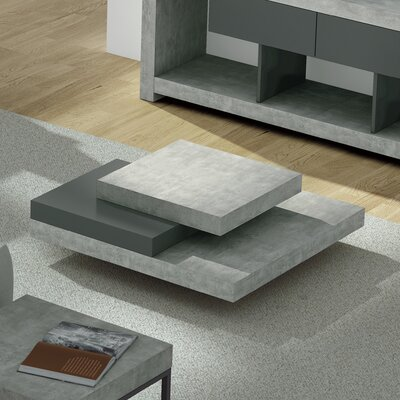 Norridge Coffee Table Color: Concrete/Pure Black