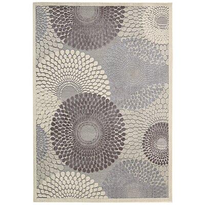 Asa Grey Area Rug Rug Size: 53 x 75