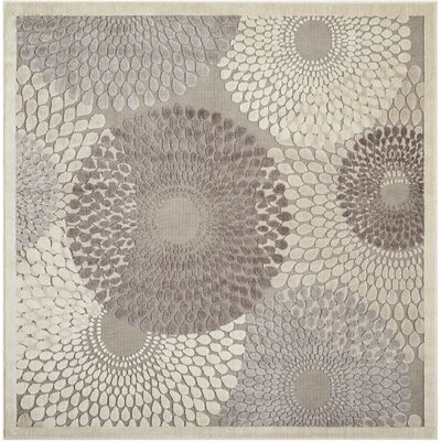 Asa Grey Area Rug Rug Size: Square 67