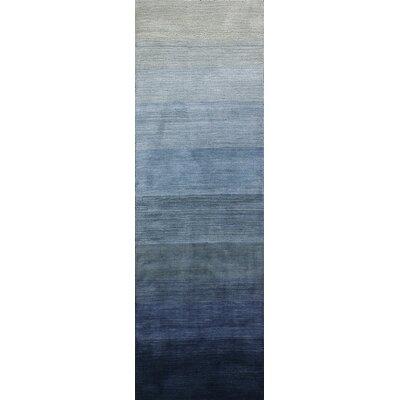 Arndt Hand-Woven Slate Gray/Blue Area Rug Rug Size: Runner 26 x 8
