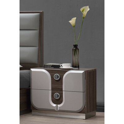 Anshul 2 Drawer Nightstand