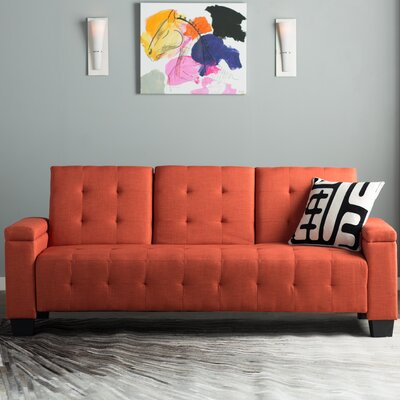 Derek Sleeper Sofa Upholstery: Orange