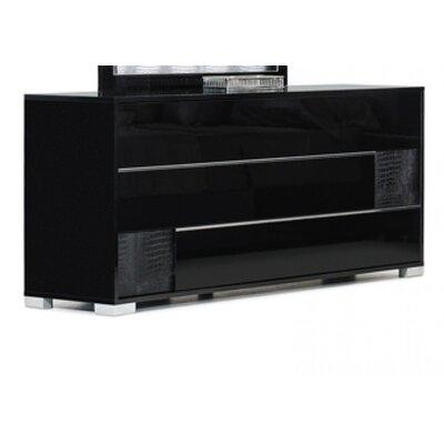 Camron 6 Drawer Sandard Dresser Color: Black