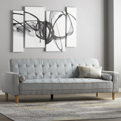 Navi Twill Sleeper Sofa Upholstery: Light Blue