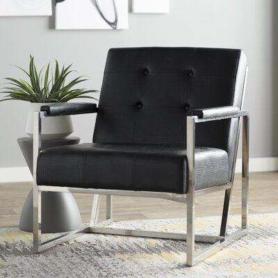 Ares Armchair Upholstery: Black