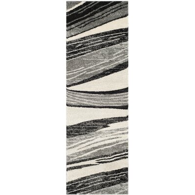 Gordon Light Grey/Ivory Rug Rug Size: Runner 23 x 9