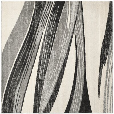 Gordon Light Grey/Ivory Rug Rug Size: Square 8