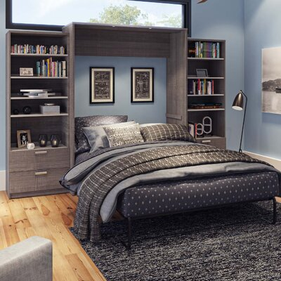 Medan Premium Murphy Bed Size: Queen, Finish: Bark Gray