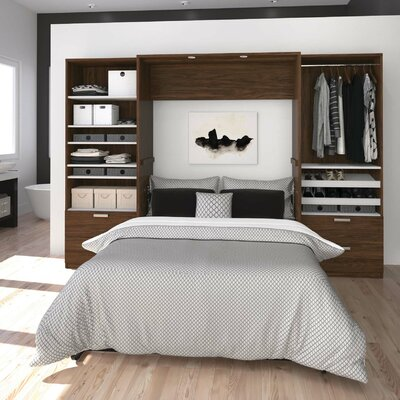 Medan Premium Murphy Bed Size: Queen, Color: Bark Gray