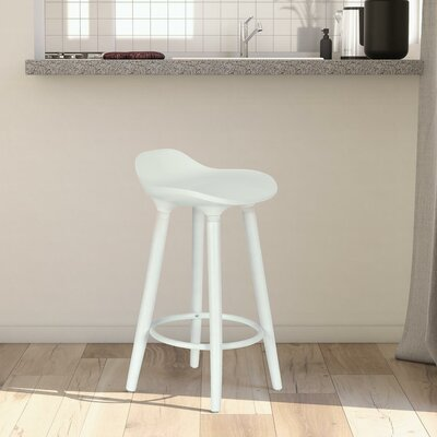 Escalon 25 Bar Stool Finish: White