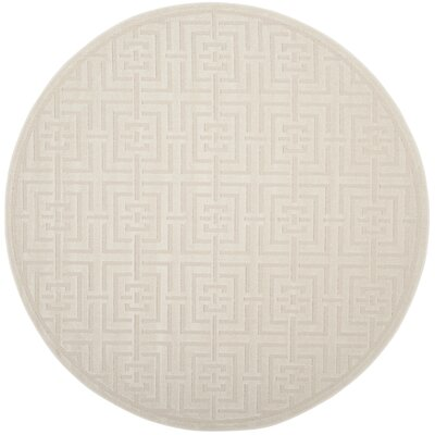 Cruz Creme Outdoor Area Rug Rug Size: Round 67