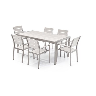 Bret 7 Piece Dining Set Finish: White