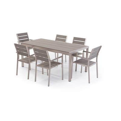 Bret 7 Piece Dining Set Finish: Brushed Nickel