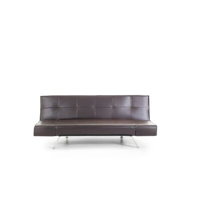 Abram Convertible Sofa Upholstery: Brown