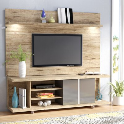 Lucca Entertainment Center Color: Nature/Onyx