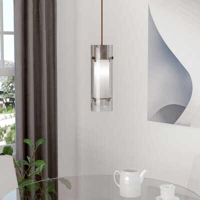 Fennia 1-Light Cylindrical Mini Pendant Finish: Oil Brushed Bronze