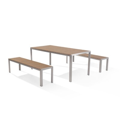Robbins 3 Piece Dining Set Finish: Brown