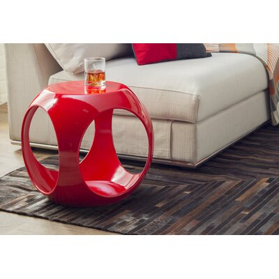 Kai End Table Color: Red
