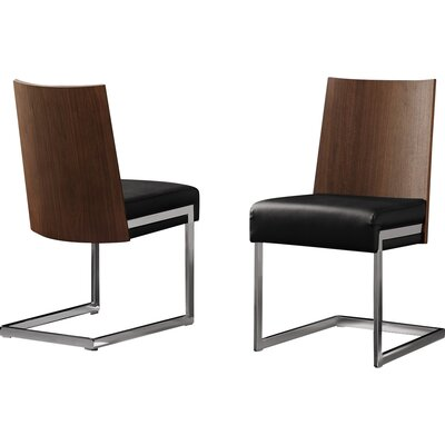 Sorrento Side Chair (Set of 2) Upholstery Color: Black