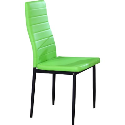 Kartik Side Chair (Set of 4) Upholstery: Green