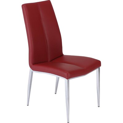 Pinank Side Chair (Set of 4) Upholstery: Red
