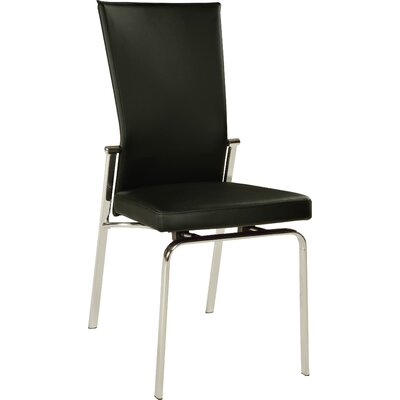 Lyusha Upholstered Side Chair (Set of 2) Side Chair Upholstery: Black