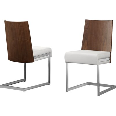 Sorrento Side Chair (Set of 2) Upholstery Color: White