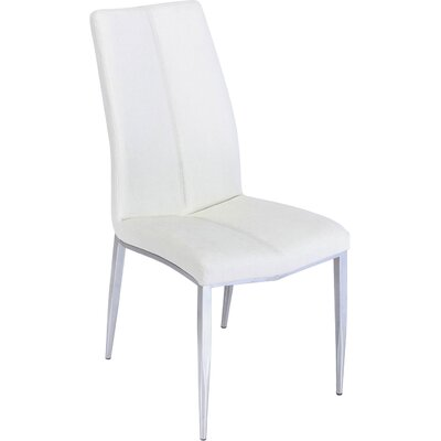 Pinank Side Chair (Set of 4) Upholstery: White