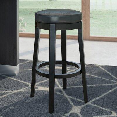 Bohnsack 26 Swivel Bar Stool Upholstery: Black