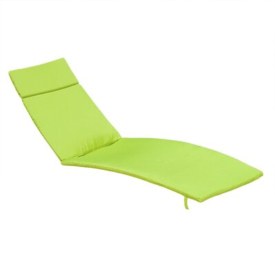 Claverton Down Outdoor Chaise Lounge Cushion Fabric: Green