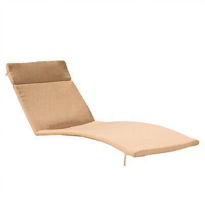 Claverton Down Outdoor Chaise Lounge Cushion Fabric: Caramel