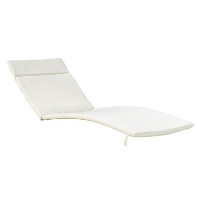 Claverton Down Outdoor Chaise Lounge Cushion Fabric: Beige