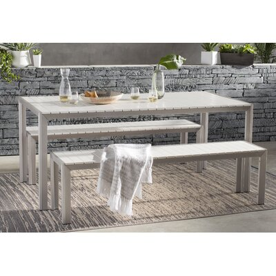 Robbins 3 Piece Dining Set Finish: White