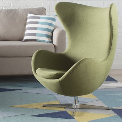 Alexia Arm Chair Upholstery: Gabriel DK Fabric Green