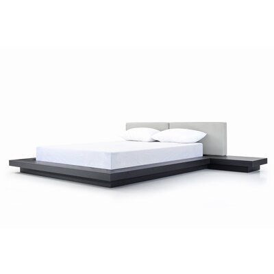 Carter Upholstered Platform Bed Size: Queen, Finish: Black Oak
