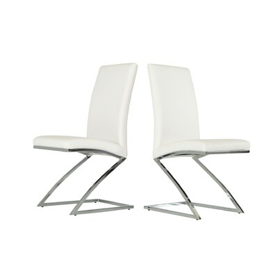 Calmar Side Chair Color: White