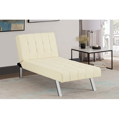 Littrell  Convertible Chaise Lounge Upholstery: Vanilla
