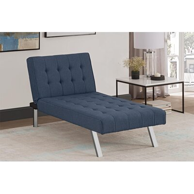Littrell Chaise Lounge Upholstery: Navy