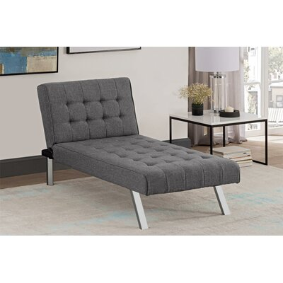 Littrell Chaise Lounge Upholstery: Gray