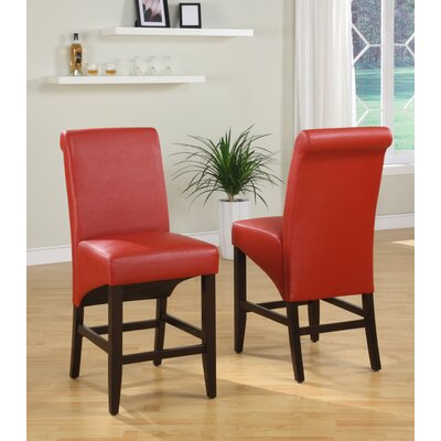 Coombe Dingle 25 Bar Stool Upholstery: Ruby
