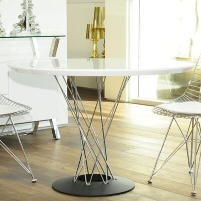Chagoya Dining Table Top Finish: White