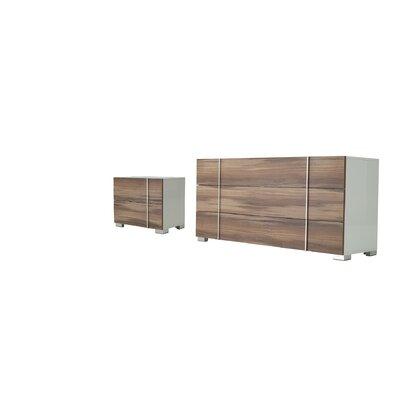 Manokwari 3 Drawer Dresser with 2 Nightstands