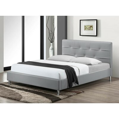 Cherwell Upholstered Platform Bed Size: Queen, Finish: Gray