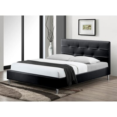 Cherwell Upholstered Platform Bed Size: King, Color: Black