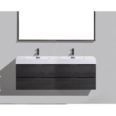 Tenafly Wood 80 Double Modern Bathroom Vanity Set Base Finish: Gray Oak