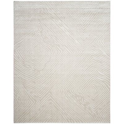 Moorhouse Hand-Woven Beige/Gray Area Rug Rug Size: Rectangle 8 x 10